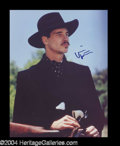 Autographs, Val Kilmer Rare Signed Tombstone Photo