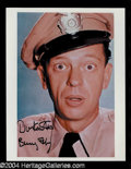 Autographs, Don Knotts Signed 8 x 10 Photo