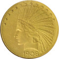 Proof Indian Eagles, 1908 $10 Motto PR66 NGC....