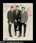 Autographs, The Lettermen Vintage Group Signed Photo