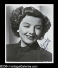Autographs, Myrna Loy Signed 8 x 10 Photo