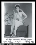 Autographs, Ida Lupine Signed 8 x 10 Photo
