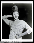 Autographs, Marcel Marceau Signed 8 x 10 Photo