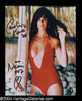 Autographs, Caroline Munro Signed Photo as Bond Girl