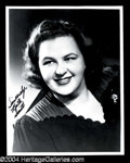 Autographs, Kate Smith Signed 8 x 10 Photo