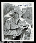 Autographs, Bob Steele Signed 8 x 10 Photo