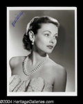 Autographs, Gene Tierney Signed Photo