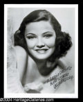 Autographs, Gene Tierney Inscribed Signed Photo