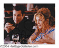 Autographs, John Travolta & Rene Russo Signed Photo