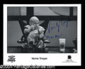 "Autographs, Verne Troyer Signed ""Mini Me"" Photo"