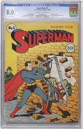 Golden Age (1938-1955):Superhero, Superman #5 (DC, 1940) CGC VF 8.0 Off-white to white pages....