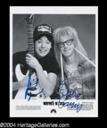 Autographs, Wayne's World Mike Myers & Dana Carvey Signed Photo
