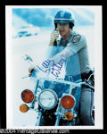 "Autographs, Larry Wilcox Signed ""CHIPS"" Photo"