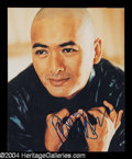 Autographs, Chow Yun-Fat Signed 8 x 10 Photo