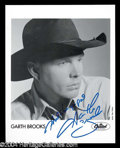 Autographs, Garth Brooks Rare Signed Press Kit