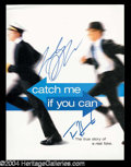 Autographs, Catch Me If You Can Tom Hanks & Leo DiCaprio Signed Presskit