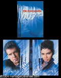 Autographs, James Bond 007: Die Another Day Brosnan & Berry Signed Presskit