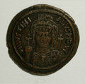Ancient Lots: , Ancient Lots: Lot of two Byzantine folles. Includes. Justinian I.Nicomedia // Anonymous. Constantinople. Average Fair to Fine. ...(Total: 2 Coins Item)