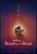 "Movie Posters:Animated, Beauty and the Beast (Buena Vista, 1991). One Sheet (27"" X 41"") Double Sided. Animated. Starring the voices of Paige O'Hara,..."