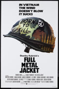 "Movie Posters:War, Full Metal Jacket (Warner Brothers, 1987). One Sheet (27"" X 41""). War. Starring Matthew Modine, Adam Baldwin, Vincent D'Onof..."