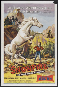 """Snowfire (Allied Artists, 1958). One Sheet (27"""" X 41""""). Family. Starring Don McGowan, Molly McGowan, Claire Ke..."""