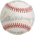 Autographs:Baseballs, 500 Home Run Club Signed Baseball Signed by Twelve. With today's top sluggers laboring under a cloud of pharmaceutical susp...