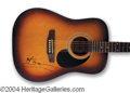 Autographs, Tony Bennett Beautiful Signed Acoustic Guitar
