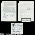 Autographs, The Eagles Important Group Signed Document