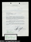 Autographs, Glenn Frey (Eagles) Signed Document