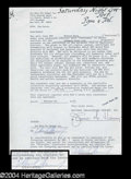 Autographs, Deborah Harry (Blondie) Signed Document