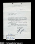 Autographs, Don Henley Signed Document