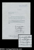 Autographs, The Four Ink Spots Early Signed Document