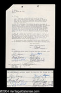 Autographs, Kansas Group Signed Document