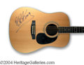 Autographs, B.B. King Signed Acoustic Guitar