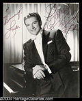 Autographs, Liberace Signed Photo w/ Piano Sketch