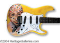 Autographs, Moby Signed Custom Guitar