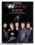 Autographs, N Sync Group Signed Sheet Music