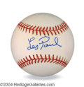 Autographs, Les Paul Unique Signed Baseball