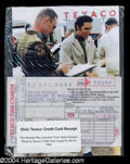 Autographs, Elvis Presley Original Unsigned Gas Receipt