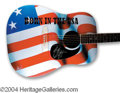 Autographs, Bruce Springsteen Beautiful Signed Custom Guitar
