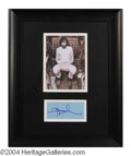 Autographs, Pete Townshend Signed Framed Display