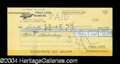 Autographs, Frank Zappa Signed Bank Check