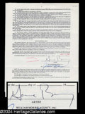 Autographs, Gene Barry Signed Agency Contract