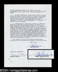 Autographs, Harry Belafonte Signed Letter