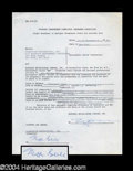 Autographs, Milton Berle Signed Document