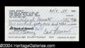 Autographs, Carol Burnett Signed Bank Check