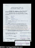 Autographs, Imogene Coco Signed Document