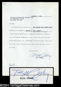 Autographs, Bill Cosby Vintage Signed Document