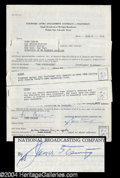 Autographs, Hume Cronyn Vintage Signed Document