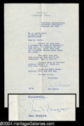 Autographs, Dan Duryea Typed Letter Signed